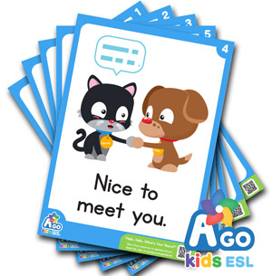 Free flashcards pack hello whats your name