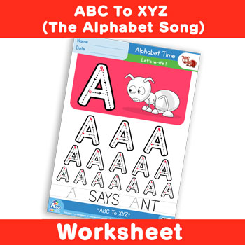 ABC To XYZ (The Alphabet Song) - Uppercase A