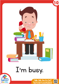 "Hello Hello How Are You Flashcards - I""m busy"