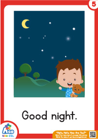 Hello Hello How Are You Flashcards - good night