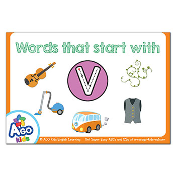 Free Alphabet Flashcards for Words That Start With the