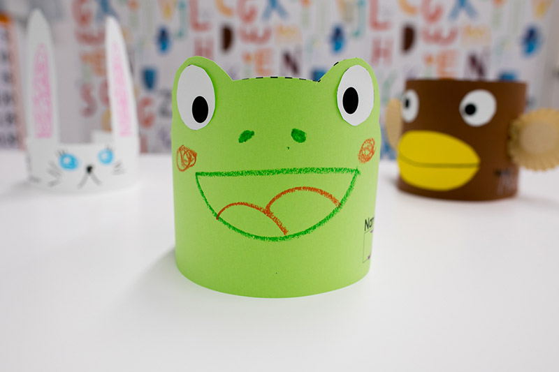 frog paper hat craft diy