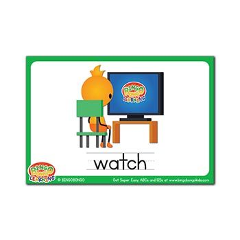 Free ESL flashcards verbs watch
