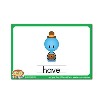 Free ESL flashcards verbs have
