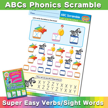 XYZ Phonics Scramble worksheet
