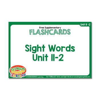 Free Sight Word Flashcards | FUN!book 2 - Unit 11-2 - BINGOBONGO