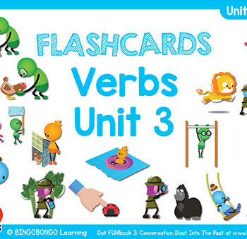 Free Verbs Flashcards FUNbook3 3