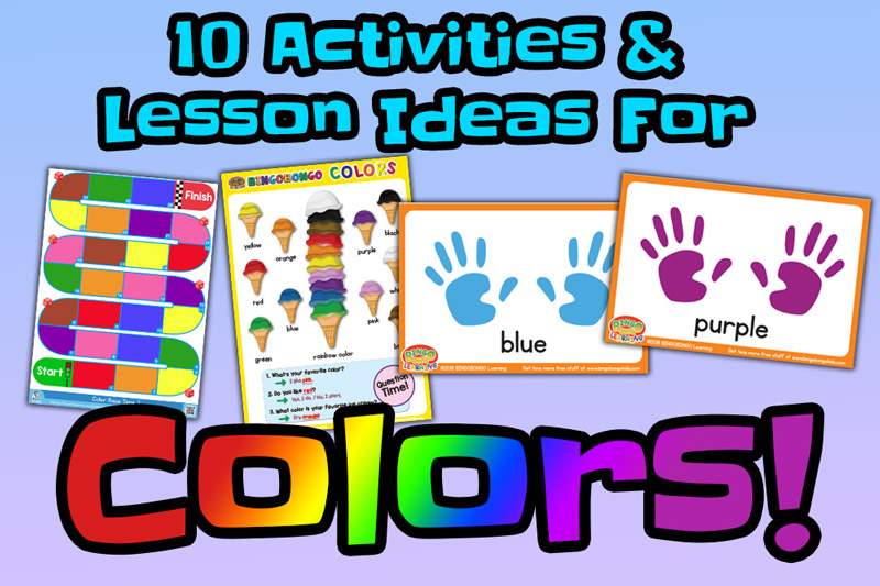 10 Free Colors Flashcards Lesson Plans and Activities