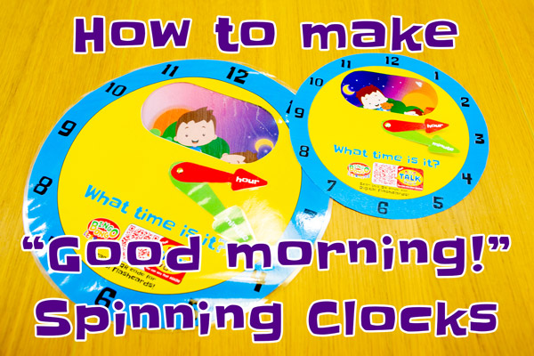 Greetings Clock (Good morning, afternoon, evening, night) – Free Craft Template